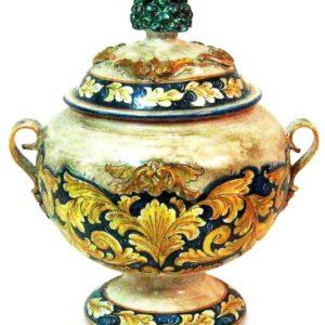 Vaso pandoro cm.40x30 fatto a mano barocco